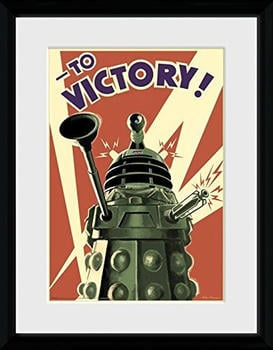 GB Eye Dr Who Victory Framed Print