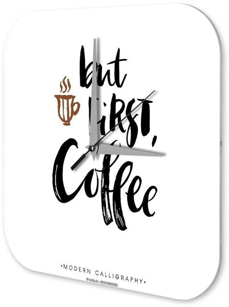 Leotie Quarz-Wanduhr aber erst Kaffee