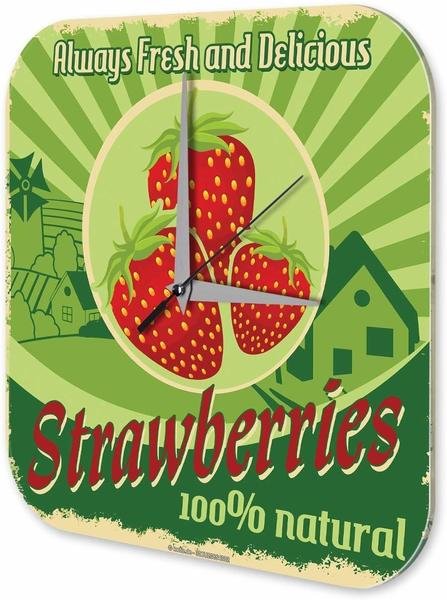 Leotie Quarz-Wanduhr Erdbeer