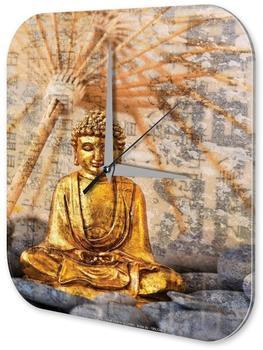 Leotie Quarz-Wanduhr Goldener Buddha