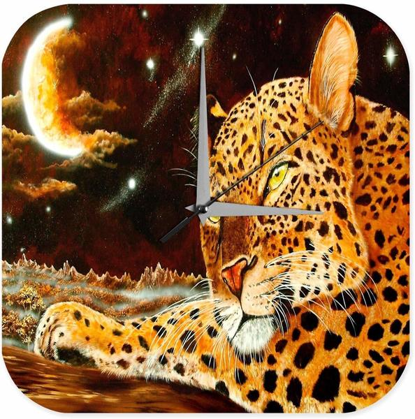 Leotie Quarz-Wanduhr Leopard