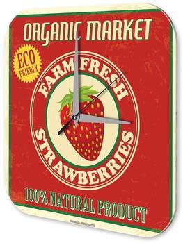 Leotie Quarz-Wanduhr Erdbeeren