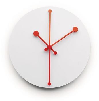 Alessi Dotty Clock ABI11 W weiß