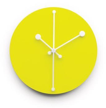 Alessi Dotty Clock ABI11 Y gelb