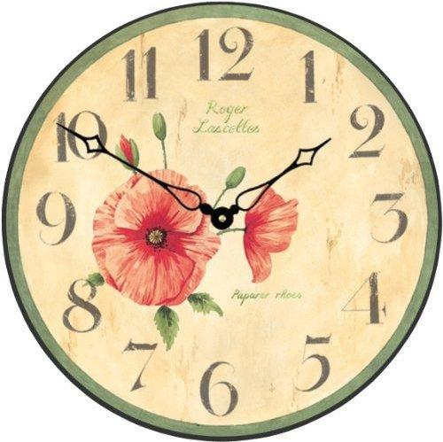 Roger Lascelles Red Poppy Wall Clock