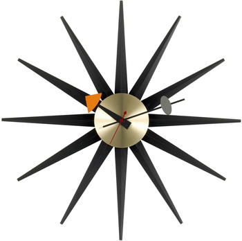 Vitra Sunburst Clock schwarz/messing (20125305)