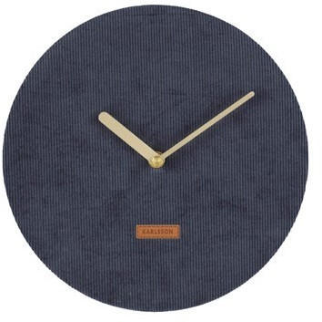 Karlsson KA5671BL Wall Clock Corduroy
