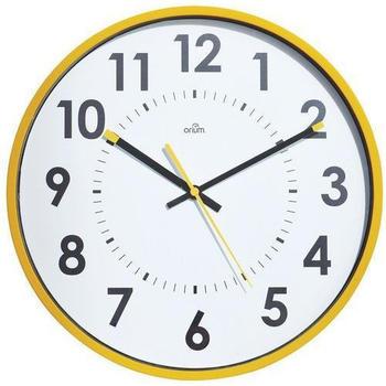Orium Mural Clock Quartz Yellow