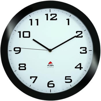 Alba Big Silent Clock Black 38 cm