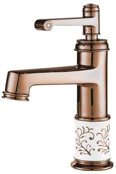 TSGPS Waschbecken Einhebel Waschtischarmatur Wasserhahn Armatur Einhebelmischer Rosegold Rotgold Porzellan