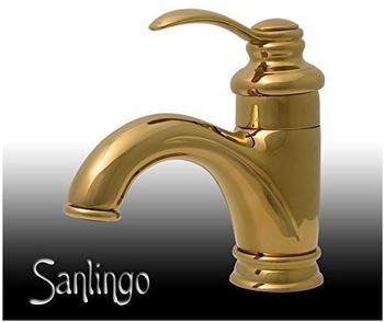 Sanlingo Retro Badezimmer Bad Waschbecken Einhebel Armatur Wasserhahn in Gold Sanlingo