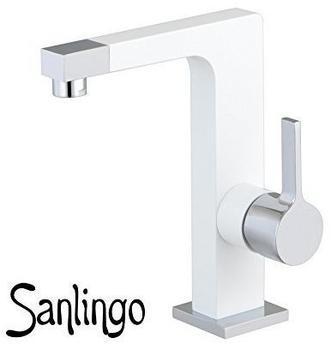 Sanlingo Bad Waschbecken Design Einhebel Armatur Wasserhahn Chrom Weiss Weiß Sanlingo