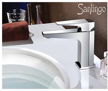 Sanlingo Serie Voza Design Bad Waschbecken Waschtisch Einhebel Armatur Wasserhahn Chrom