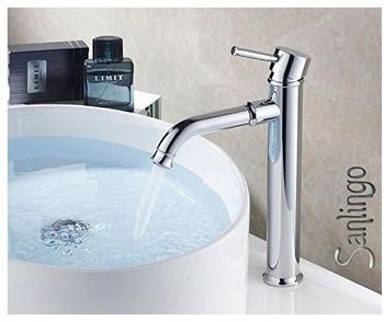 Sanlingo Bad Einhebel Armatur Hoch Waschbecken Waschtisch Waschschale Chrom