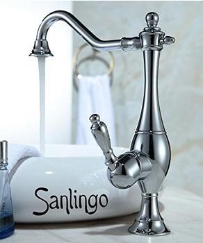 Sanlingo Nostalgie Retro Einhebel Armatur für Waschschale Schüssel Chrom Drehbar Sanlingo