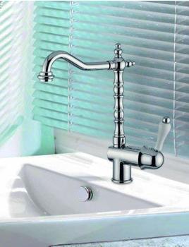 Casa Padrino Luxus Bad Zubehör - Jugendstil Retro Waschbecken Armatur Waschtisch Einhand Waschtischbatterie Chrom