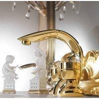 Casa Padrino Luxus Bad Zubehör - Jugendstil Retro Waschtisch Armatur Einlochbatterie Gold Serie Cristallo - Made