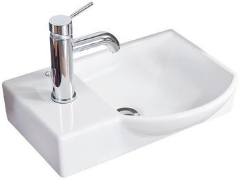 Fackelmann Gäste-WC Keramikbecken 45x32cm rechts (82391)