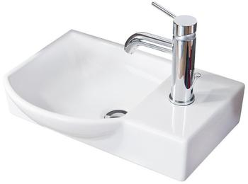 Fackelmann Gäste-WC Keramikbecken 45x32cm links (82390)