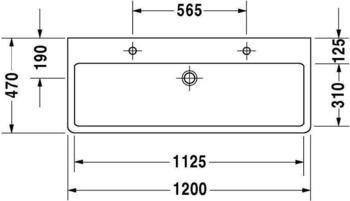Duravit Vero 120x47cm schwarz geschliffen WonderGliss (04541208261)