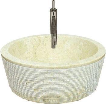Dilego Steinwaschbecken Ø 40 cm creme (HF55710)