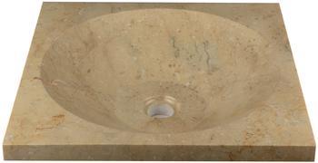 Dilego Steinwaschbecken Ø 45 cm creme (HF55720)