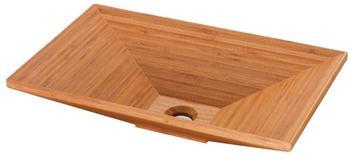 NEG Waschbecken Madera E55H (eckig) Aufsatz-Waschschale/Waschtisch Bambus-Holz massiv, versiegelt