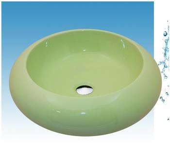NEG Waschbecken Uno22A (rund), Aufsatz-Waschschale/Waschtisch (grün) mit breitem Rand Nano-Beschichtung