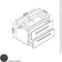 KZOAO Madrid Waschtisch-Set 80 cm Mokka