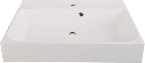 Livingpool Waschbecken Ronde in Weiß, 60 cm aus Mineralguss