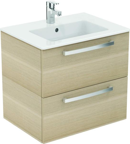 Ideal Standard Waschtisch/Möbel-Paket EUROVIT, 610x450x565mm, WeißEiche anthrazit, K2979SG