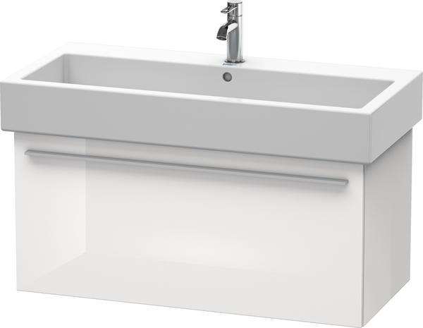 Duravit X-Large Waschtischunterbau für Waschtisch 80 cm X-Large B: 75 T: 44,3 H: 44,8 cm weiß hochglanz dekor XL604502222
