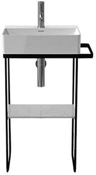 Duravit DuraSquare Metallkonsole bodenstehend für Handwaschbecken B: 45 cm schwarz matt 0031094600