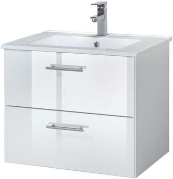 Held Möbel Trento Waschplatz-Set Waschtisch 60 cm 2-tlg. weiß