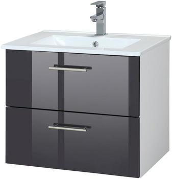 Held Möbel Trento Waschplatz-Set 60 cm 2-tlg. anthrazit