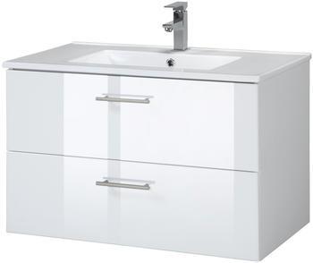 Held Möbel Trento Waschplatz-Set 80 cm 2-tlg. weiß