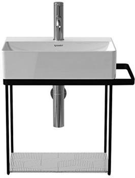Duravit DuraSquare Metallkonsole wandhängend für Handwaschbecken B: 45 cm schwarz matt 0031104600