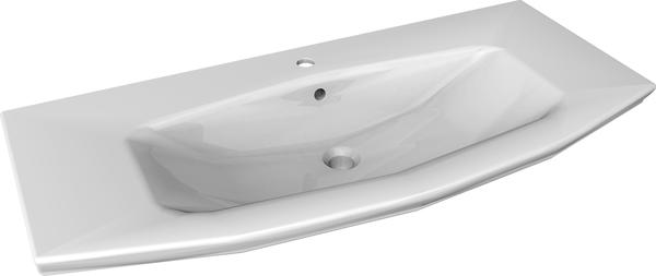 Fackelmann Waschbecken Lino, Breite 90 cm Weiß