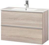 Cygnus Bath Malaga 800 Waschtisch 80 x 35 cm Eiche