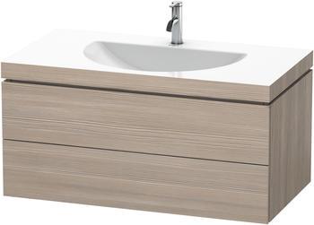 Duravit Darling New Waschtisch mit L-Cube Waschtischunterschrank B: 100 H: 50 T: 54 cm, 2 Auszüge pine silver, ohne Einrichtungssystem, mit 1 Hahnloch LC6906O3131