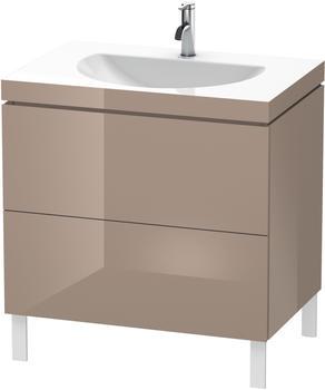 Duravit Darling New Waschtisch mit L-Cube Waschtischunterschrank B: 80 H: 69,8 T: 54 cm, 2 Auszüge cappuccino hochglanz, ohne Einrichtungssystem, mit 1 Hahnloch LC6910O8686