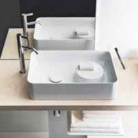 Laufen VAL Waschtisch-Schale B: 55 T: 36 cm weiß, mit Clean Coat, ohne Hahnloch, ohne Überlauf H8122824001121