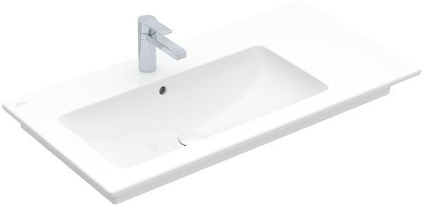 Villeroy & Boch Venticello Schrankwaschtisch B: 100 T: 50 cm, mit Überlauf Becken links stone white mit CeramicPlus mit 1 Hahnloch durchgestochen 4134L1RW