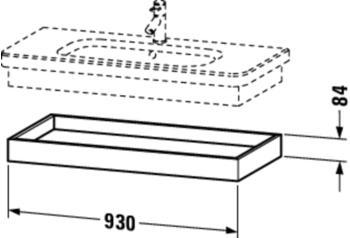 Duravit DuraStyle Ablageboard B: 93 H: 8,4 T: 44,8 cm kastanie dunkel/basalt matt DS618205343