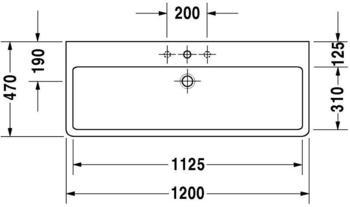 Duravit Vero 120x47cm schwarz WonderGliss (04541208251)