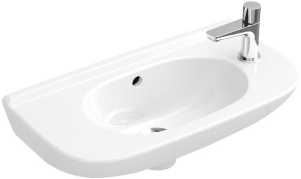 Villeroy & Boch O.novo Handwaschbecken compact 536151 500x250mm seitl.e Hl. v.gestochen ohne Überlauf weiß ceramicplus
