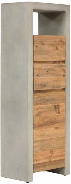 massivum Hochschrank aus Beton grau