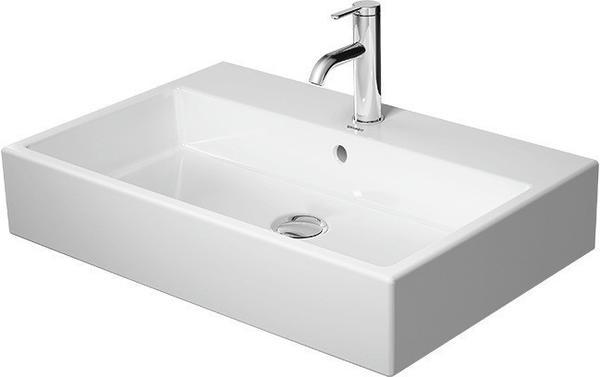 Duravit Waschtisch VERO AIR ohne Überlauf, mit Hahnlochbank, geschliffen, 700 x 470 mm ohne Hahnloch weiß