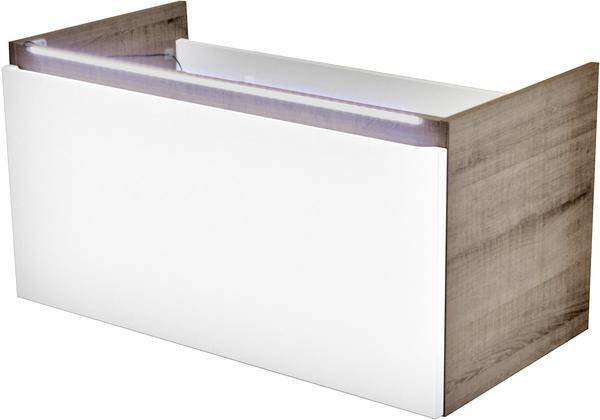 Fackelmann Piuro 85cm weiß hochglanz graueiche (87003)