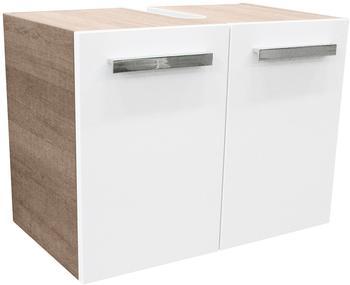 Fackelmann A-Vero 63cm weiß glänzend graueiche (82573)